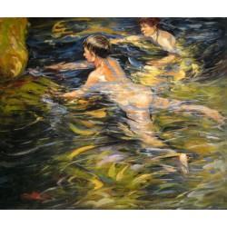 Nadadores en Jávea de Sorolla