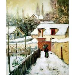Nieve en Louveciennes de Sisley