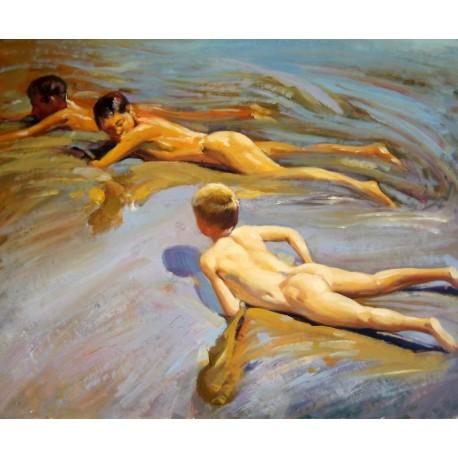 Niños en la playa de Sorolla