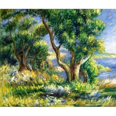 Paisaje cerca de Menton de Renoir