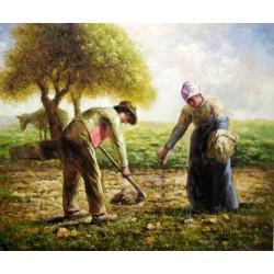 Plantando patatas de Millet
