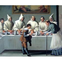 San Hugo en el refectorio de los cartujos de Zurbarán