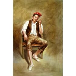 Señor sentado de Joan Bauza Mas 40x27cm
