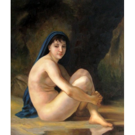 Sentada desnuda de Bouguereau