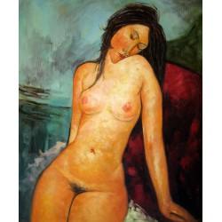 Sentada desnuda de Modigliani