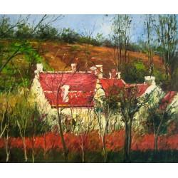 Tejados rojos de Pissarro