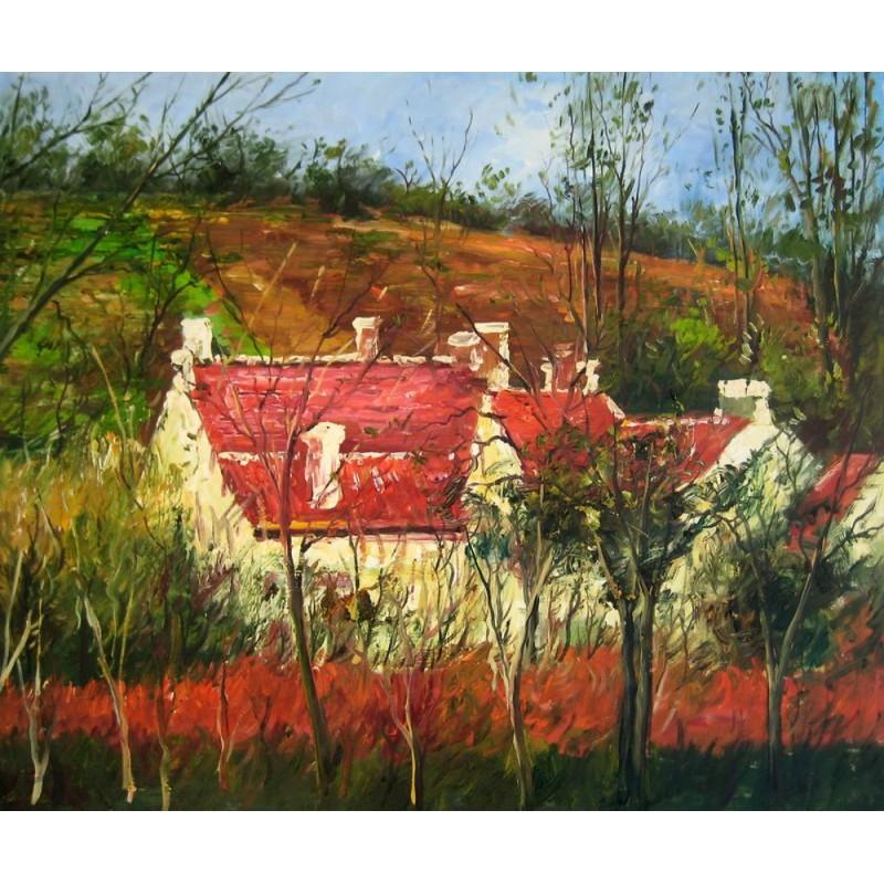 tejados rojos de pissarro artefamoso copias de cuadros
