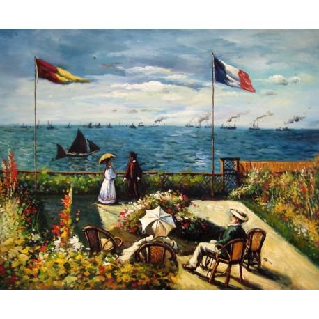 Terraza en Saint Adresse de Monet