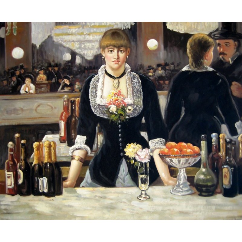 In 1882 Édouard Manet painted his wellknown painting A Bar at the FoliesBergère which depicts a bargirl one of the demimondaines standing before a