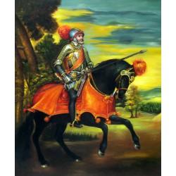 El Emperador Carlos V a caballo en Míœhlberg de Tiziano