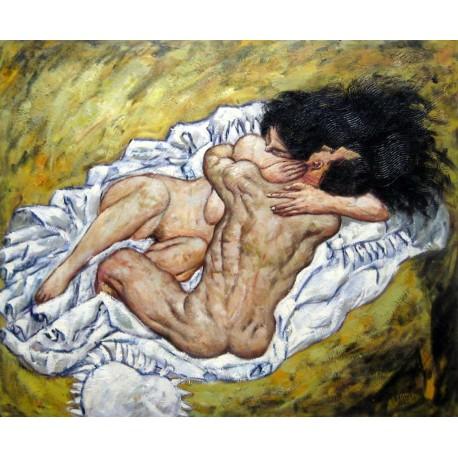 El abrazo, los amantes de Schiele