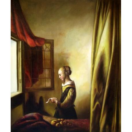 Chica leyendo una carta de Vermeer