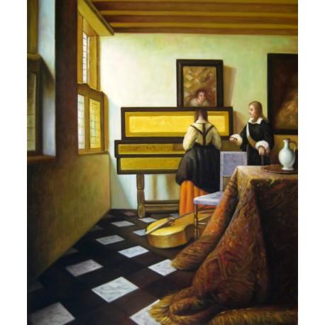 La lección de música de Vermeer