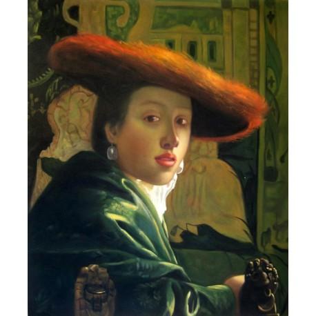 3bbde895255b9 Muchacha con sombrero rojo de Vermeer